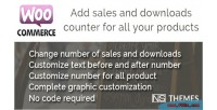Sales woocommerce counter downloads and