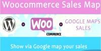 Sales woocommerce map