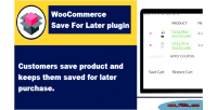 Save woocommerce for later