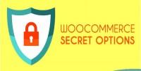 Secret woocommerce options