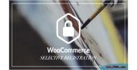 Selective woocommerce registration