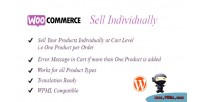 Sell woocommerce individually