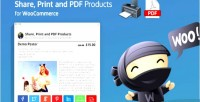 Share print & pdf woocommerce for products