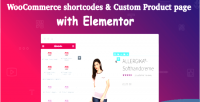 Shortcodes woocommerce custom elementor product with page