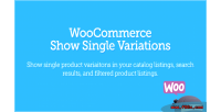 Show woocommerce single variations
