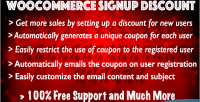 Signup woocommerce discount
