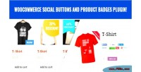 Social woocommerce buttons badges product and