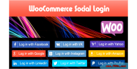 Social woocommerce login