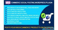 Social woocommerce posting