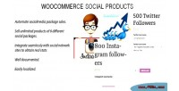 Social woocommerce products