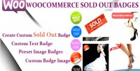 Sold woocommerce out badge