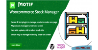 Stock woocommerce manager