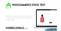 Stock woocommerce text
