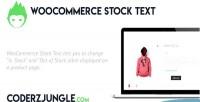 Stock woocommerce text