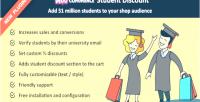 Student woocommerce discounts