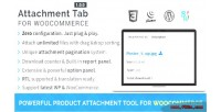 Tab attachment for woocommerce