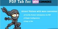 Tab pdf for woocommerce
