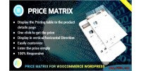 Table flexible pricing woocommerce for matrix