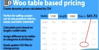 Table woo based pricing