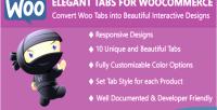 Tabs elegant for woocommerce
