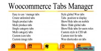 Tabs woocommerce manager