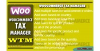 Tax woocommerce manager wtm
