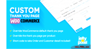 Thank custom you woocommerce for page