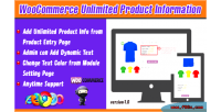 Unlimited woocommerce product information