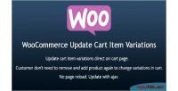 Update woocommerce variations item cart