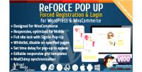 User reforce up pop registration