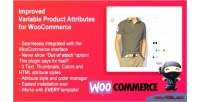 Variable improved woocommerce attributes product