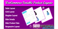 Variable woocommerce product layouts