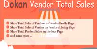 Vendor dokan total sales