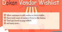 Vendor dokan wishlist