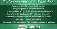 Warranties woocommerce & returns