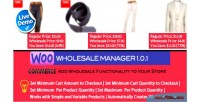 Wholesale woocommerce manager