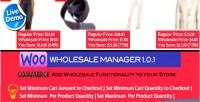 Wholesale woocommerce manager