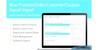 Woo product order customer import export coupon
