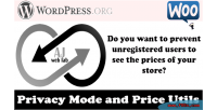 Woocommerce aj privacy mode