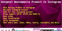 Woocommerce autopost product wootoig instagram to
