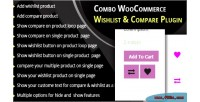 Woocommerce combo plugin compare wishlist