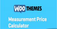Woocommerce custom calculator price measure