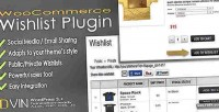 Woocommerce dvin plugin wp wishlist