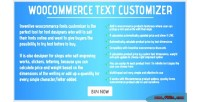 Woocommerce inventive text customizer