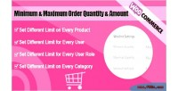 Woocommerce minimum & maximum quantity amount order