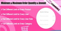 Woocommerce minimum & maximum quantity amount order