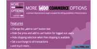 Woocommerce more options