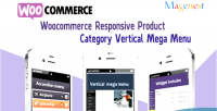 Woocommerce responsive product category menu mega vertical