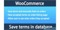 Woocommerce save terms & database in conditions