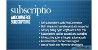 Woocommerce subscriptio subscriptions